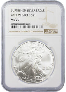 2012-W-Burnished-Silver-Eagle-NGC-MS70