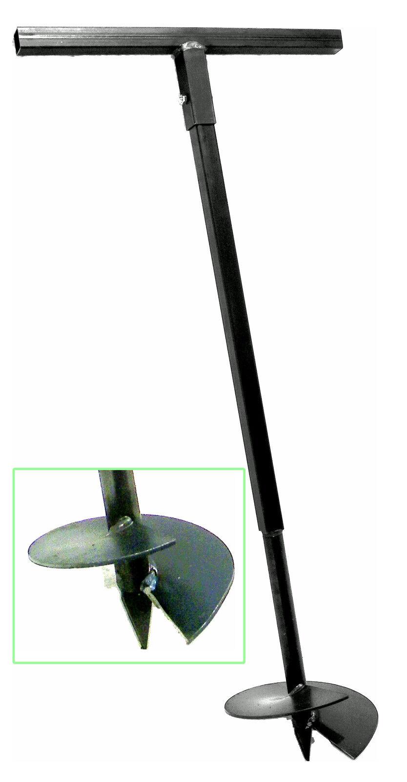 Mano ahoyador 230 mm perforadora erdlochausheber lochspaten pflanzbohrer