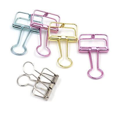 5 Pcs Metal Binder Clips File Paper Clip Office School Supplies Random Color