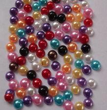 250 Colores Mezclados pequeño 4 mm Perla redonda flatback, para la Decoración Artesanía teléfono Etc