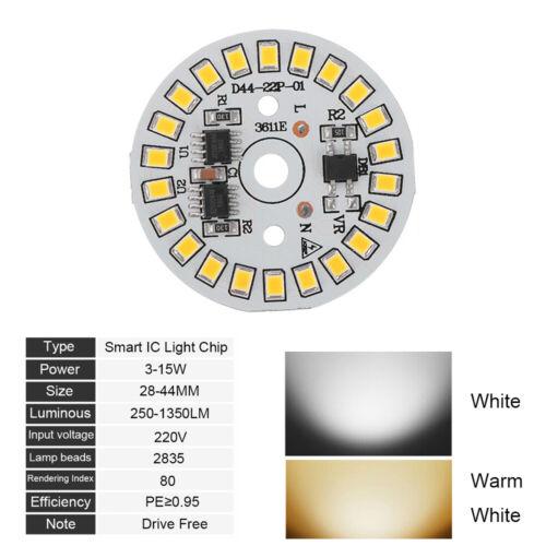 White//White AC220V Smart IC Driver Bulb Lamp Bean LED Chip 2835 SMD Light Plate
