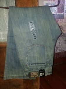 Lucky-Brand-Womens-Blue-Jeans-sz-14-32-Dungarees-Slightly-Flared-Leg