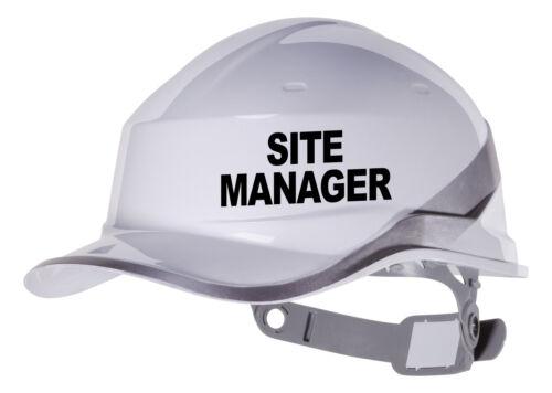 couleur personnalisée /& font 2x gestionnaire du site dur Autocollant Vinyle hat Transfert Autocollant