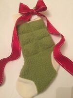 Dog Toy Christmas Stocking Squeaky Toy Apple Green Doggie Toys