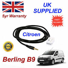 Citroen Berlingo B9 AUX 3.5mm Input Audio cable model year 2005-