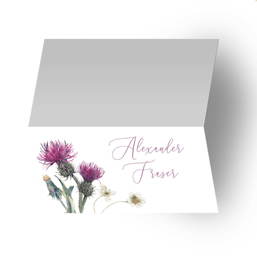 Wildflower Chardon mariage assise Plan table tableau tableau table Hommes us CARTONS TOILE befccf