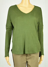 One Clothing Womens Green V-Neck Thermal Tunic Blouse Top Size M