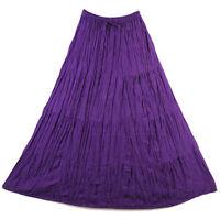 Bohemian Tier Long Skirt Boho Hippy Hippie Gypsy Purple XS-XL sk167v2