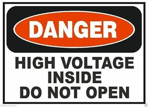 Danger High Voltage Inside Osha Safety Sign Decal Sticker