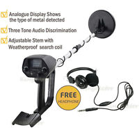 Usa Deep Metal Detector W/ Waterproof Coil Hunter Treasure Search Free Headphone