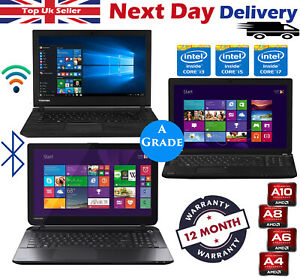 Toshiba-Laptop-Cheap-15-6-034-Intel-Core-i3-i5-i7-4GB-8GB-RAM-1TB-HDD-SSD-Windows10