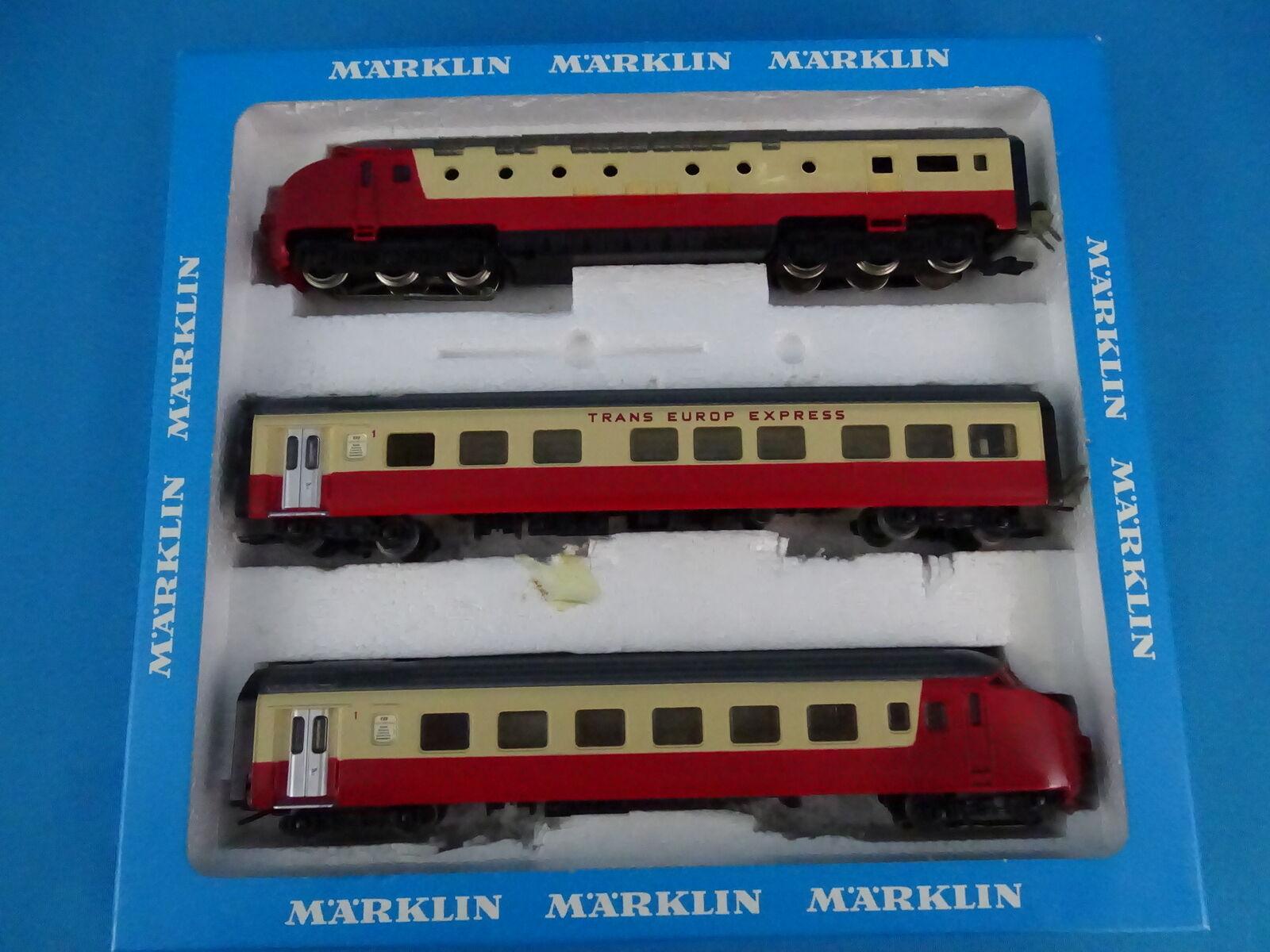 Marklin 3071 NS SBB Tee Diesel Train Set Edelweiss Express versión 1 rosso-Marfil