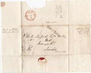 1836-TAUNTON-DATED-PENNY-POST-TO-LONDON-MP-TO-PAY-1d-ONLY-PMK-ON-PART-LETTER