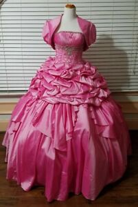 Hot girls in quiceneiera Quinceanera Gown Hot Pink Mary S Size 6 New Never Worn Ebay