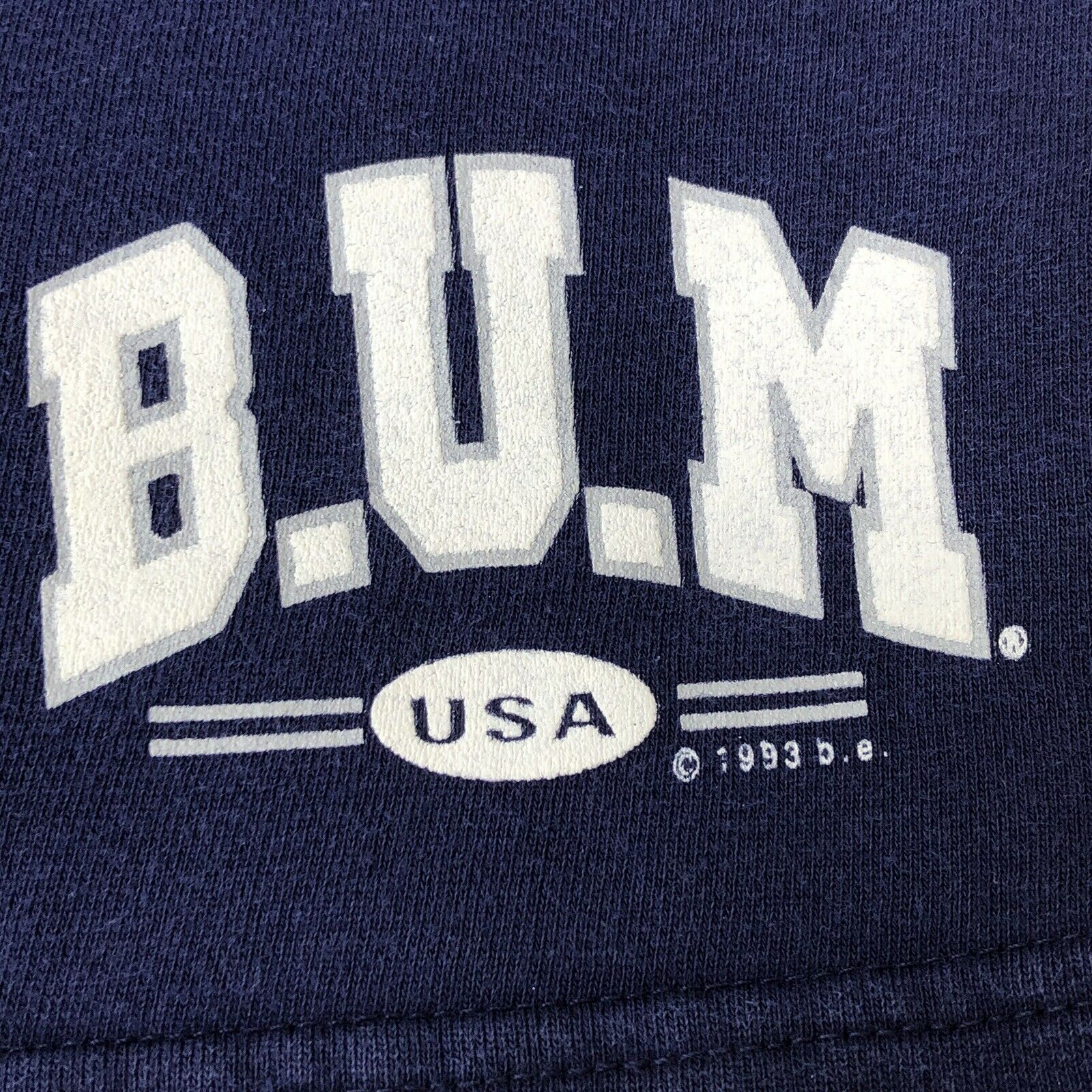 Vintage 90s B.U.M. Equipment Shorts navy blue Swe… - image 6