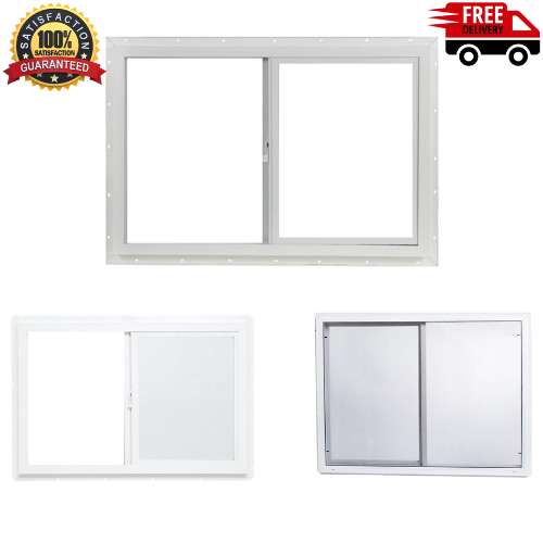 "New TAFCO WINDOWS 35.5/"" x 23.5/"" Double-Pane Single Vinyl Slider Window Left-Hand"