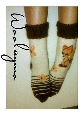 Fuzzy socks Mohair Socks Women socks Wool socks Hand Knit Cuddly Socken Handmade