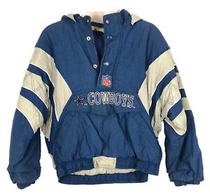 promo code caafd f8ba1 Details about Dallas Cowboys NFL Puffer Jacket Pro Line Authentic Starter  Youth M/L w/ Hood