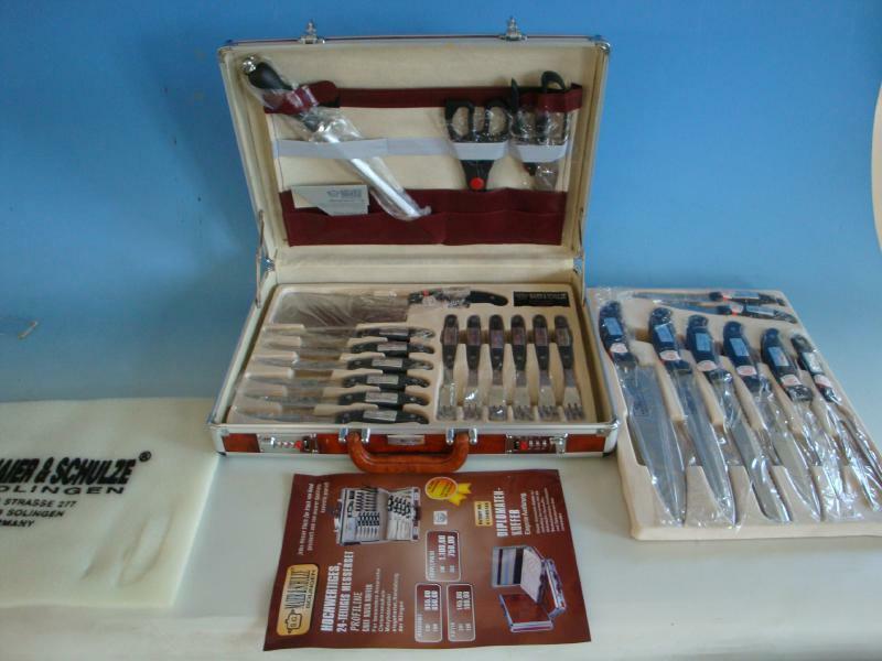 HK19-009  Maier & Schulze Solingen Messer Set 24 tlg.