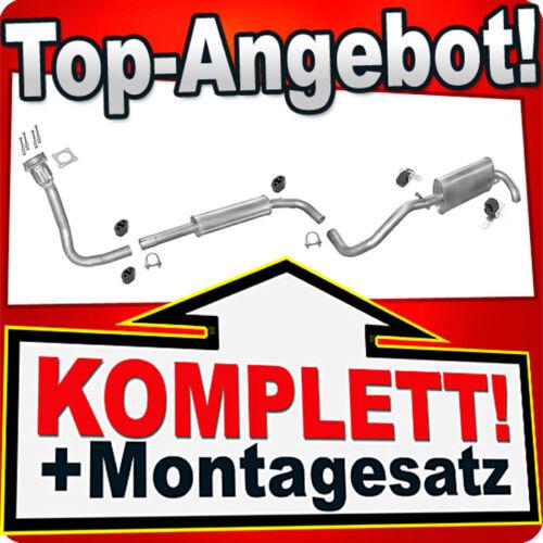 Rohr Auspuffanlage F80B Auspuff VW LUPO 1.7 SDI