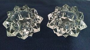 Pair-2-Lead-Crystal-Star-Votive-Candle-Holder-4-034-X-2-034