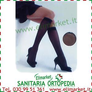 Gambaletti elastici velati donna 140 den compressione graduata calze elastiche