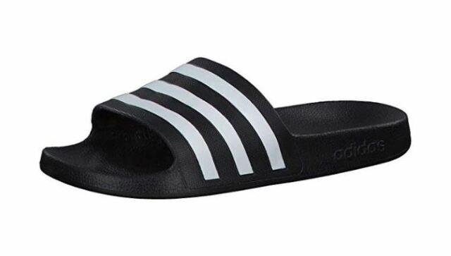 Details zu Schwarze adidas Adiletten Aqua Badelatschen Badeschuhe von Gr 43 Gr 47
