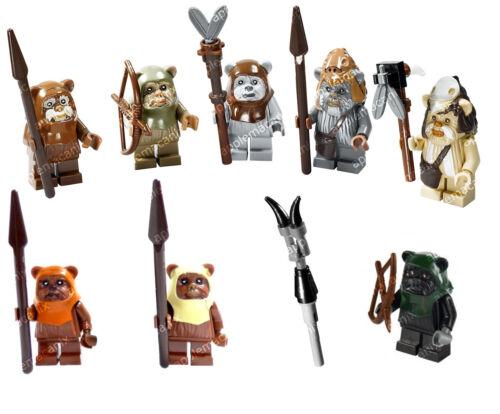 NEW LEGO Star Wars 10236 7956 8038 EWOK ENDOR SET 8 Minifigures Figures Weapons!