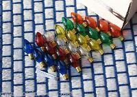 Box Of 24 Twinkle Multicolor Christmas Light Bulbs Assortment 7 Watt C7 Blinker