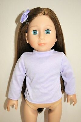 """Doll Clothes I8/"""" For American Girl Dolls Our Generation Mauve Long Sleeve Top"""
