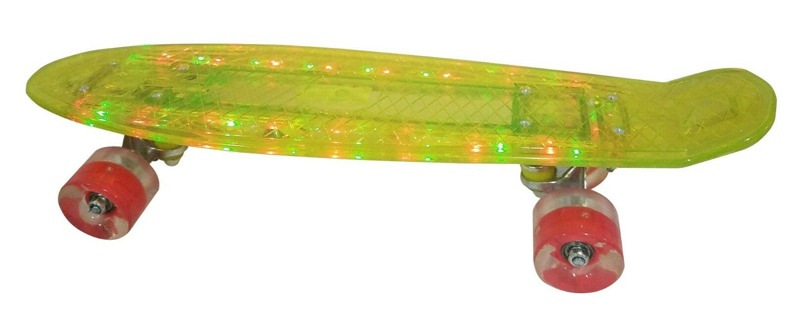 LED 22  S board with 4 Different Light Modes  and Light Up Wheels - Yellow  2018 latest
