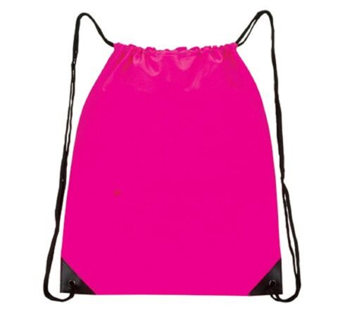 All-Purpose Drawstring Tote III Neon Pink SP-03