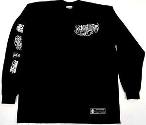 STREETWISE-STYLISTIC-Long-Sleeve-T-shirt-Artist-Series-Mens-Tee-Black-New