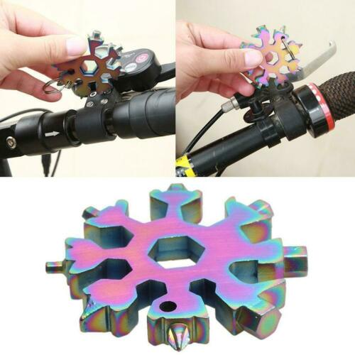 compact and portable outdoor 18 in one Multi-Functional Snowflake Tool Card