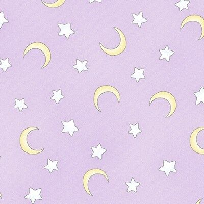 Fat Quarter Sweet Pea Stars and Moons on Lilac Cotton Quilting Fabric Studio E