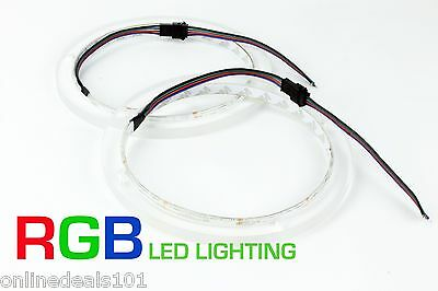 2pc RGB LED Speaker Rings for JL Audio Marine 6.5  M650  Ready to install!!!