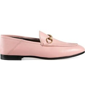 acc62310d60 Image is loading New-Gucci-Brixton-Perfect-Pink-Leather-Convertible-Loafer-