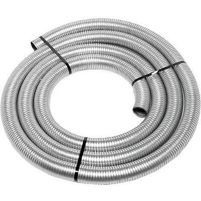 "2-1//2/"" ID x 25/' foot feet long EXHAUST FLEX PIPE Steel Tubing Flexible Tube 2.5"