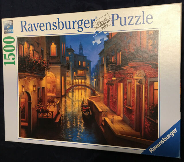 Softclick Technology Means Pieces Fit Together Perfectly Ravensburger Waters of Venice 1500 Piece Jigsaw Puzzle for Adults