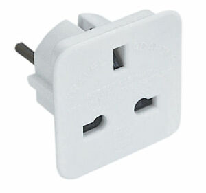 4 X Power Converter Adaptor For Uk To Eu France Italy