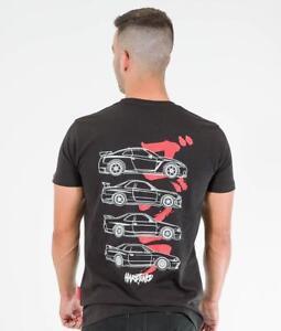 Nissan-Skyline-GTR-Generations-JDM-Drift-Car-Turbo-Mens-Black-Cotton-Tee-Shirt