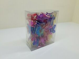 (100) Mini Butterfly Hair Clips Barrette Accessories Assorted Neon Color Women