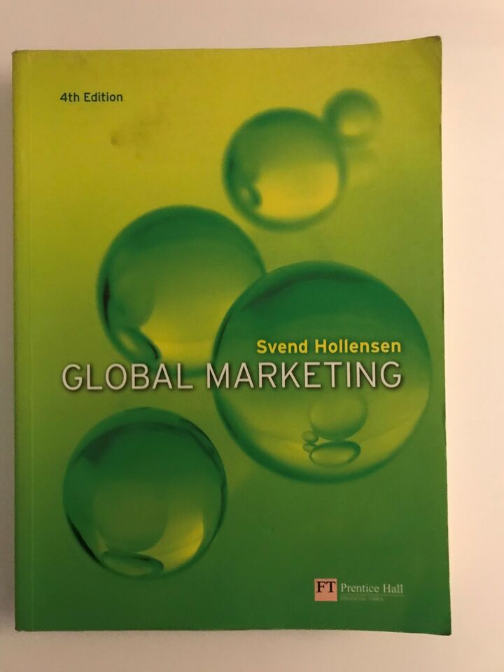Global Marketing, Svend Hollensen, emne: markedsføring