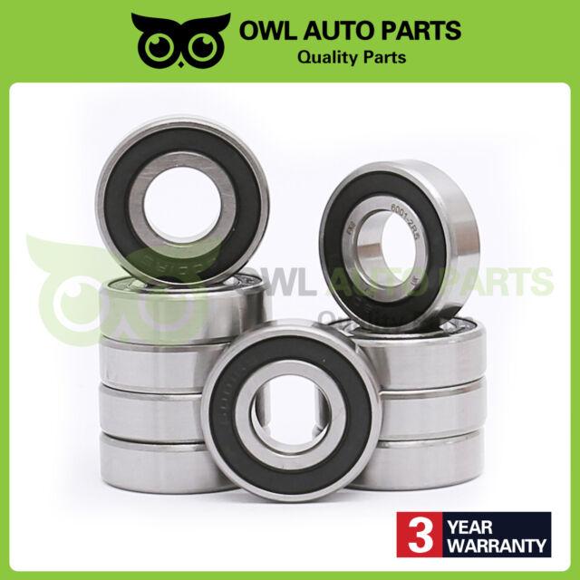 25x 47x 12 mm 10 pcs 6005 2RS C3 rubber sealed ball bearing