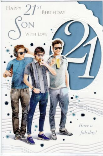 Son 16th Birthday Card ~ Son 21st Birthday ~ You/'re 16 Today