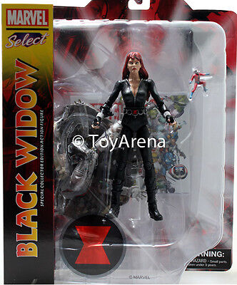 MARVEL SELECT AVENGERS  BLACK WIDOW  COLLECTOR EDITION ACTION FIGURE W// ANT-MAN