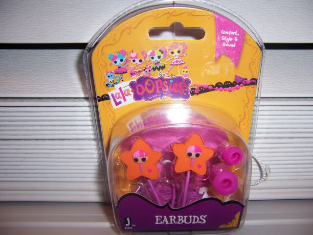 Lalaloopsy Earbuds Pink Jazwares New Action Figures Animals & Dinosaurs
