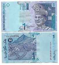 King Tuanku Abdul Rahmanr // seacoast 1 Ringgit kite UNC see UV Malaysia P39b