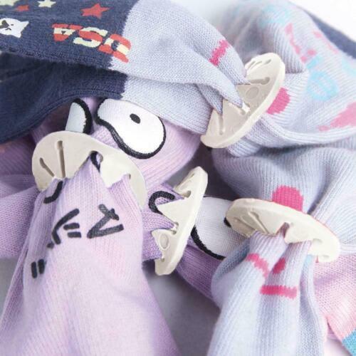 7pcs//1Set White Sock Holder Rings Sock Organizers Clip Locks Sorter Washing C4K6