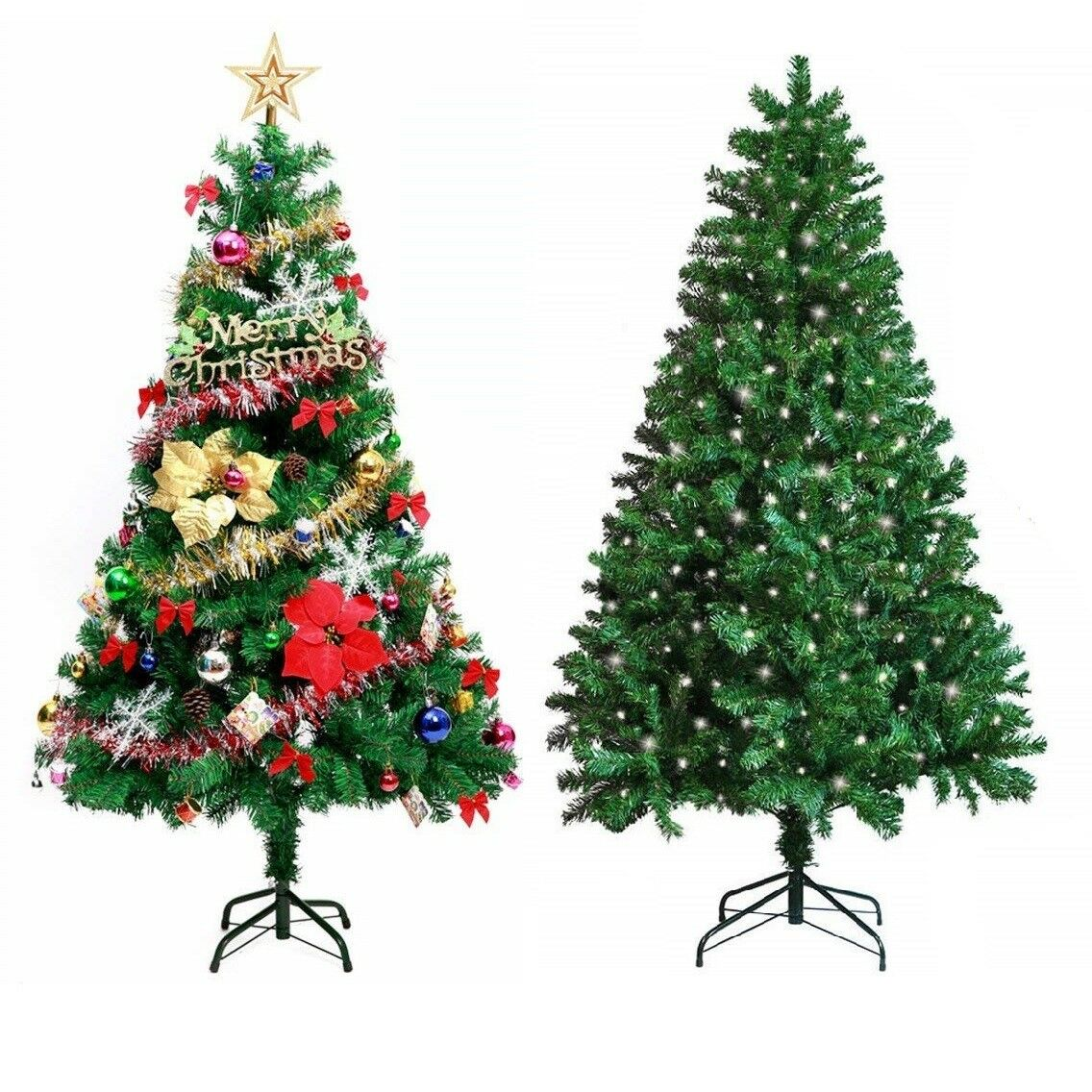 Details About Premium Artificial Pre Lit Christmas Xmas Tree Led Lights With Stand 5 6 7 Ft